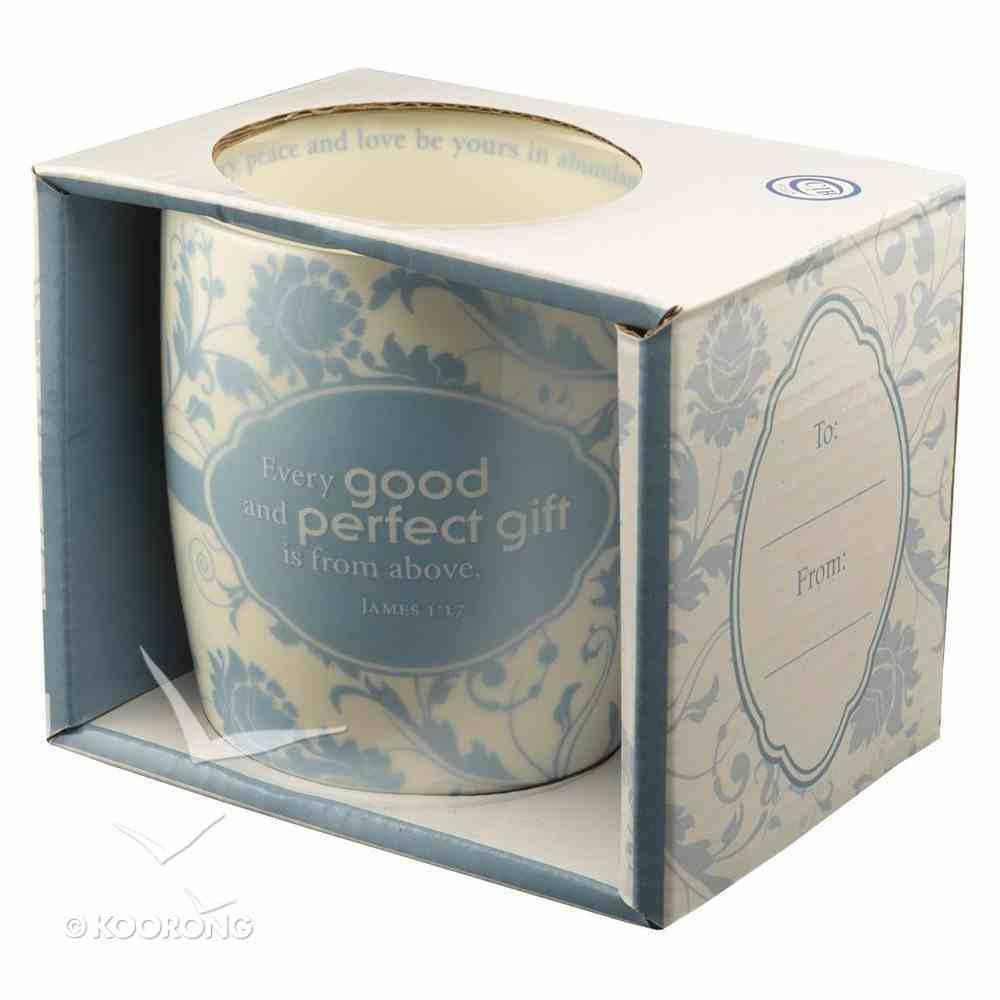 Ceramic Mug: Every Good and Perfect Gift, Light Blue/White Homeware