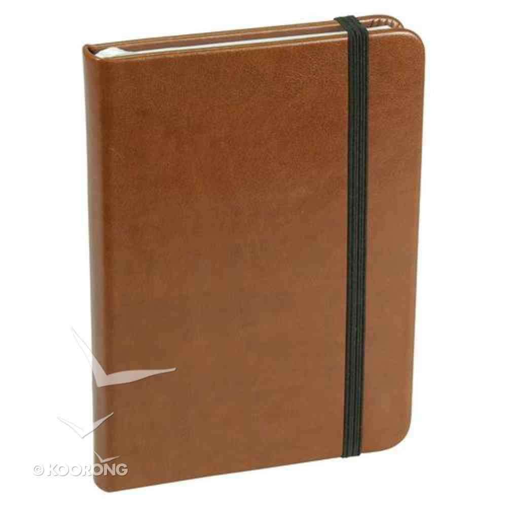 Baxter Notebook With Elastic Closure Tan Stationery