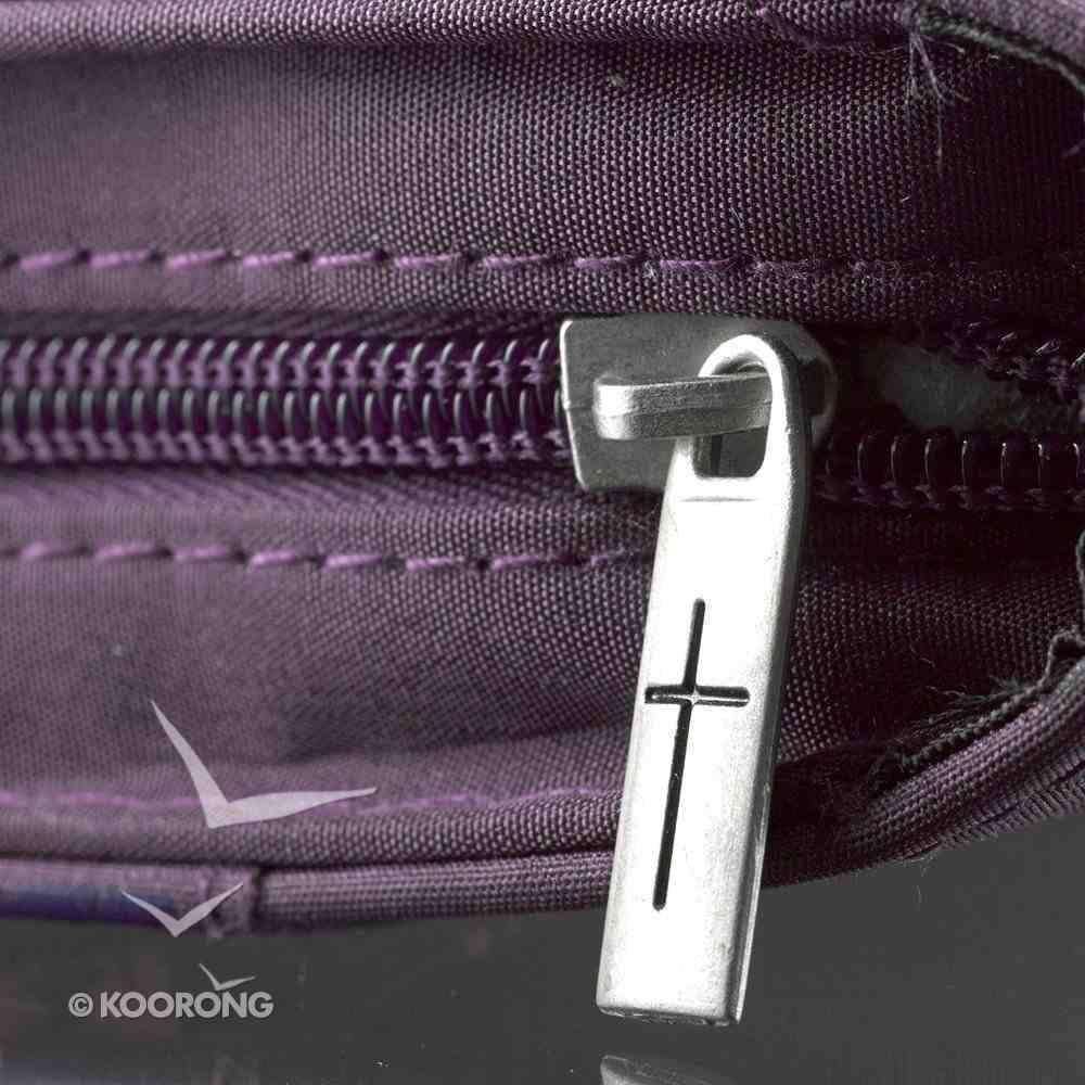 Bible Cover Micro-Fiber: Amazing Grace, Purple Large Bible Cover