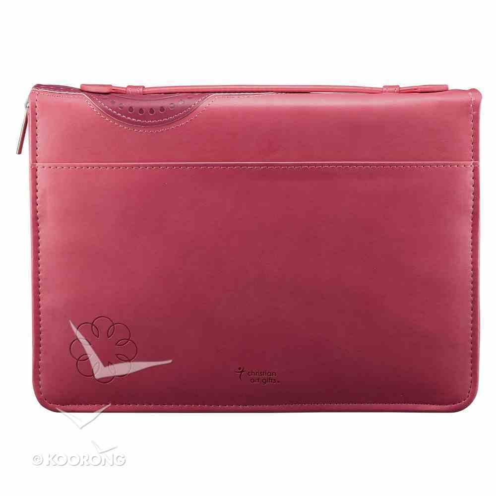 Bible Cover Be Still Pink/Purple Flower Medium Fashion Trendy Luxleather Imitation Leather