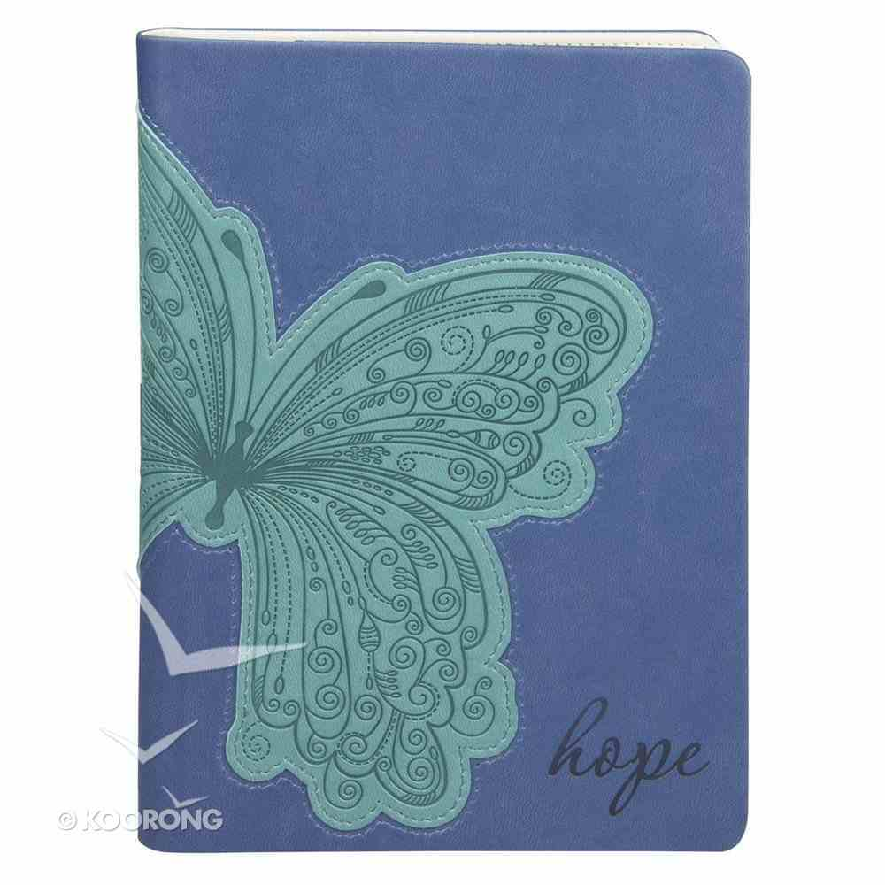 E-Reader Cover With Elastic Band Closure: Hope Blue/Aqua Butterfly General Gift