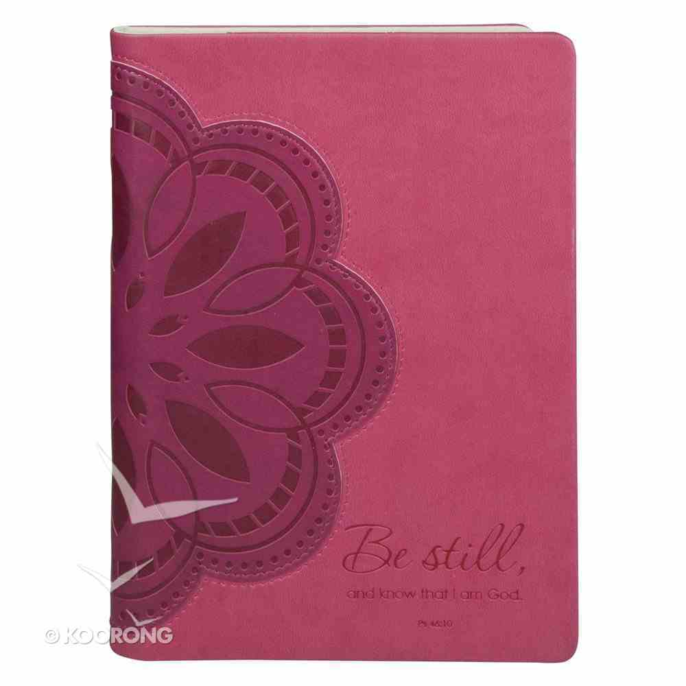 E-Reader Cover With Elastic Band Closure: Be Still... Pink/Purple Flower General Gift