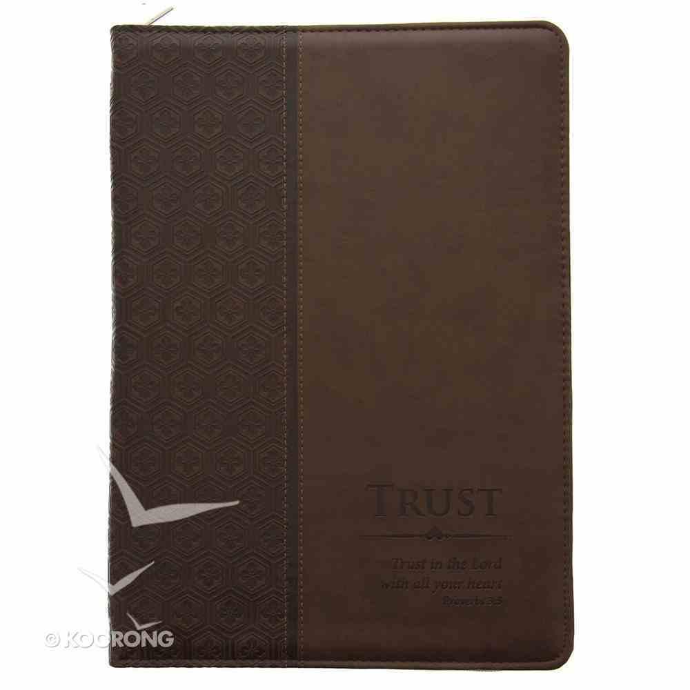 Folder: Trust Brown/Dark Brown Proverbs 3:5 Luxleather Imitation Leather