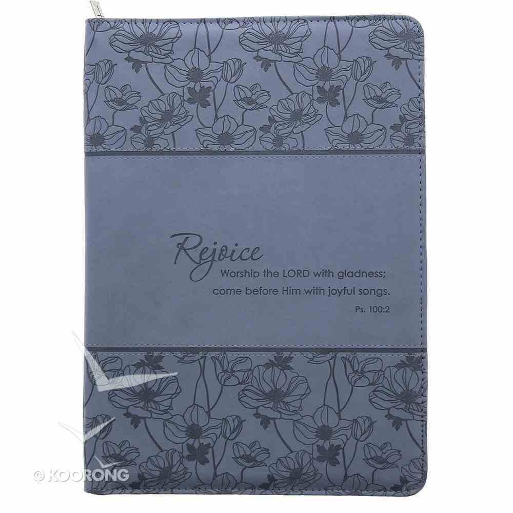 Folder: Rejoice Psalm 100:2 Blue Luxleather Imitation Leather