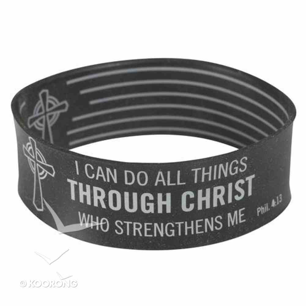 Silicon Wristband: I Can Do All Things Through Christ Jewellery