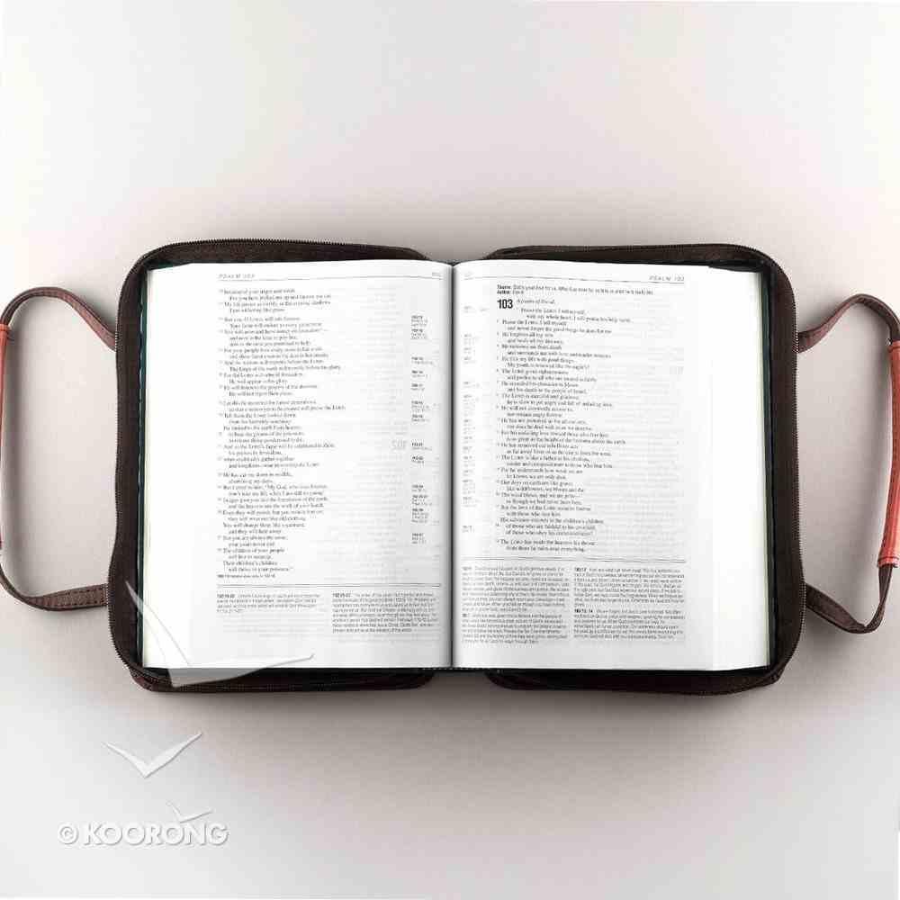 Bible Cover Micro-Fiber: Brown/Red Love Medium Bible Cover