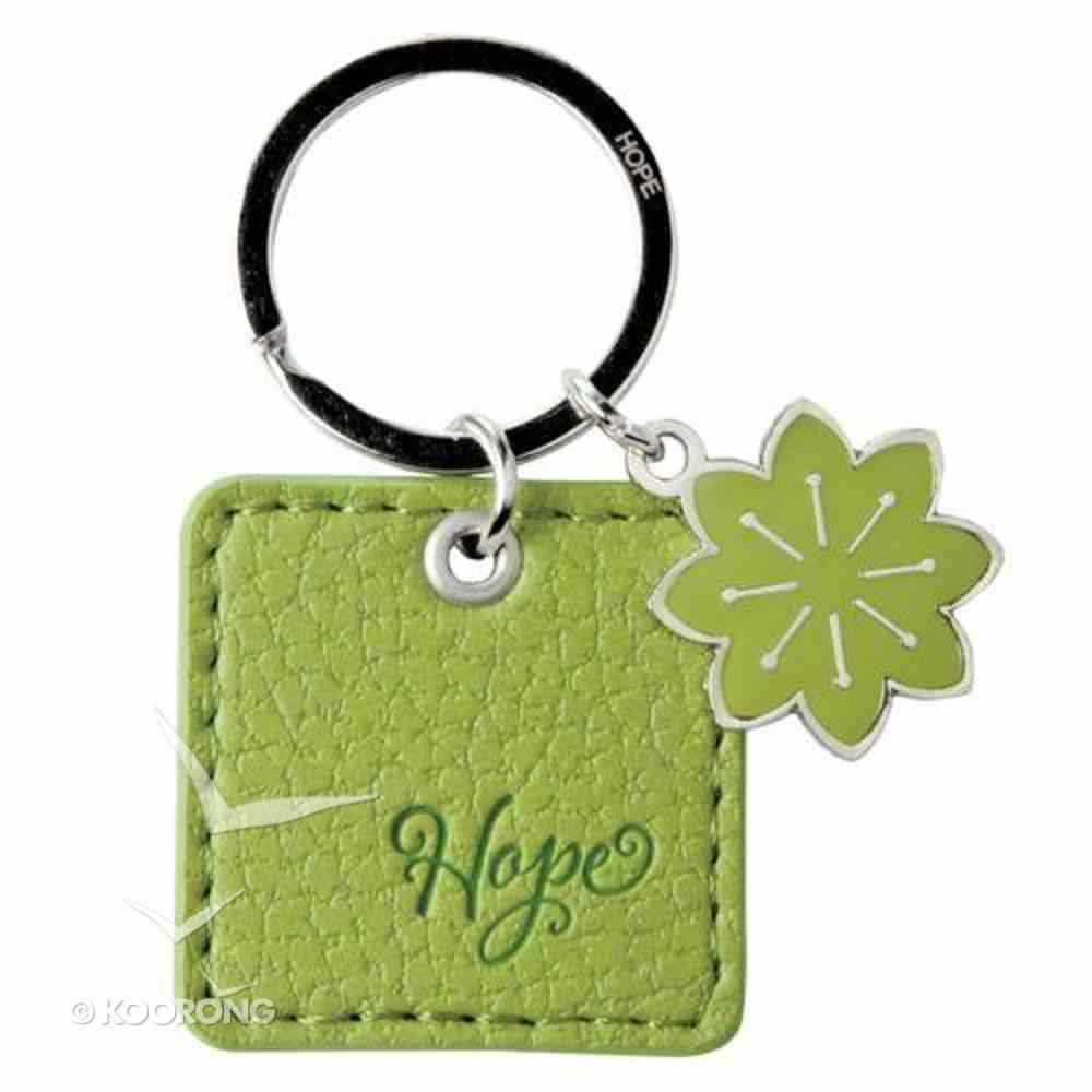 Luxleather Keyring With Charm: Hope Lime Green Jewellery