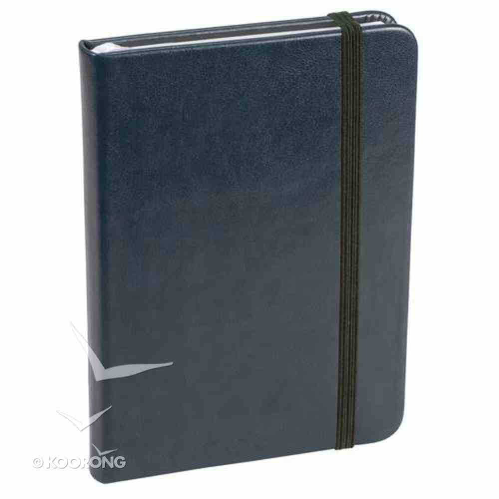 Baxter Notebook With Elastic Closure Navy Stationery