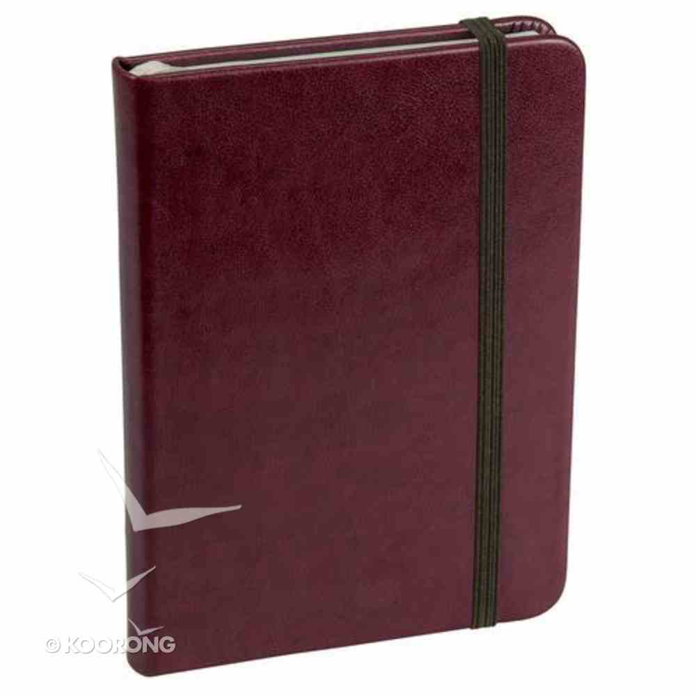 Baxter Notebook With Elastic Closure Burgundy Stationery