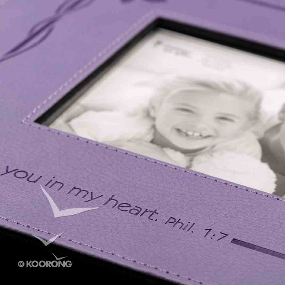 Photo Frame: I Have You in My Heart Purple Luxleather (Phil 1:7) Imitation Leather