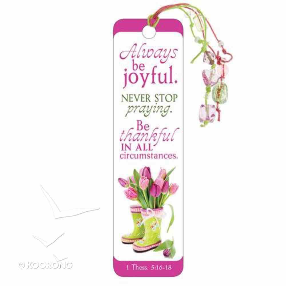 Bookmark With Beaded Tassel: Always Be Joyful Stationery