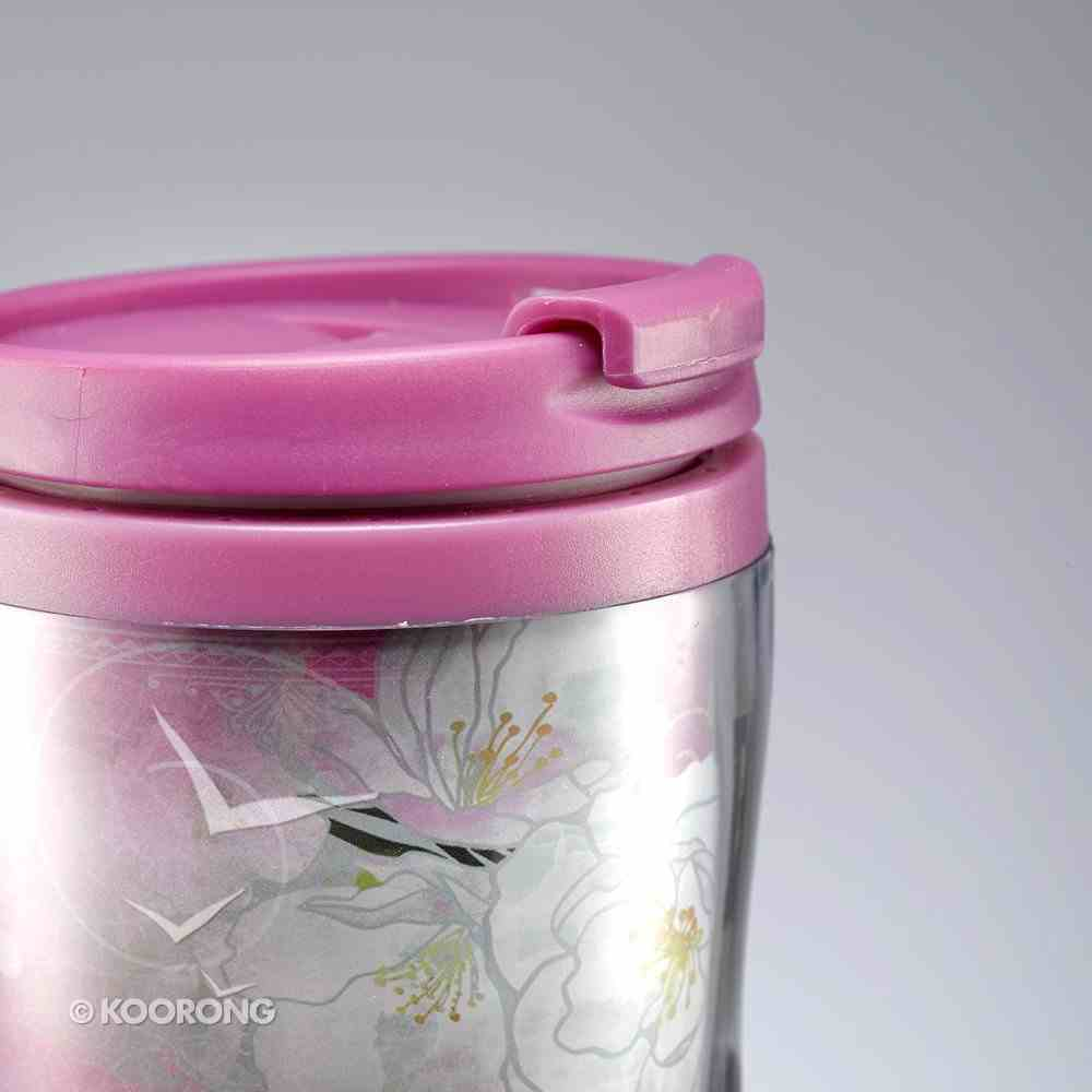 Polymer 360ml Mug: Precious & Loved, Psalm 139:17, Pink Flowers Homeware