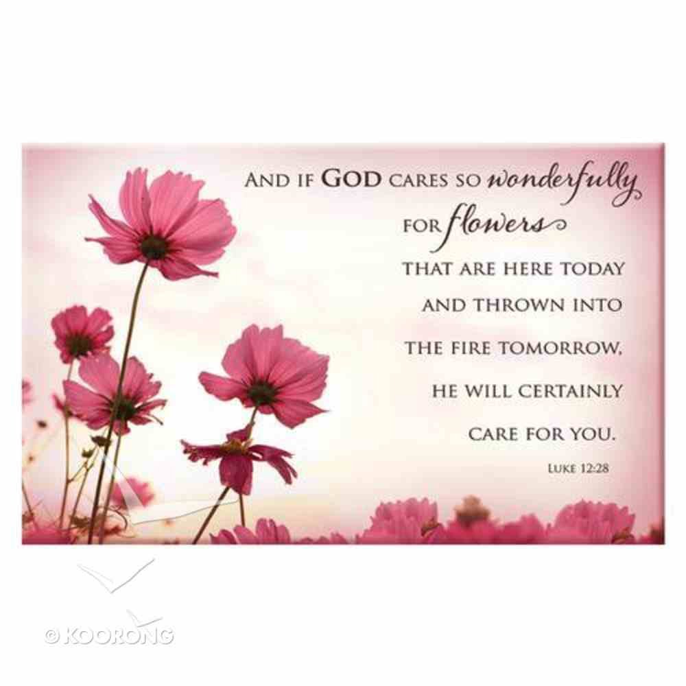 Magnet With a Message: And If God Cares For Your So Wonderfully... (Luke 12:28) Novelty