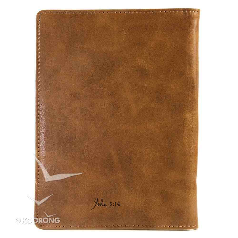 E-Reader Cover With Elastic Band Closure: Cross Brown John 3:16 General Gift