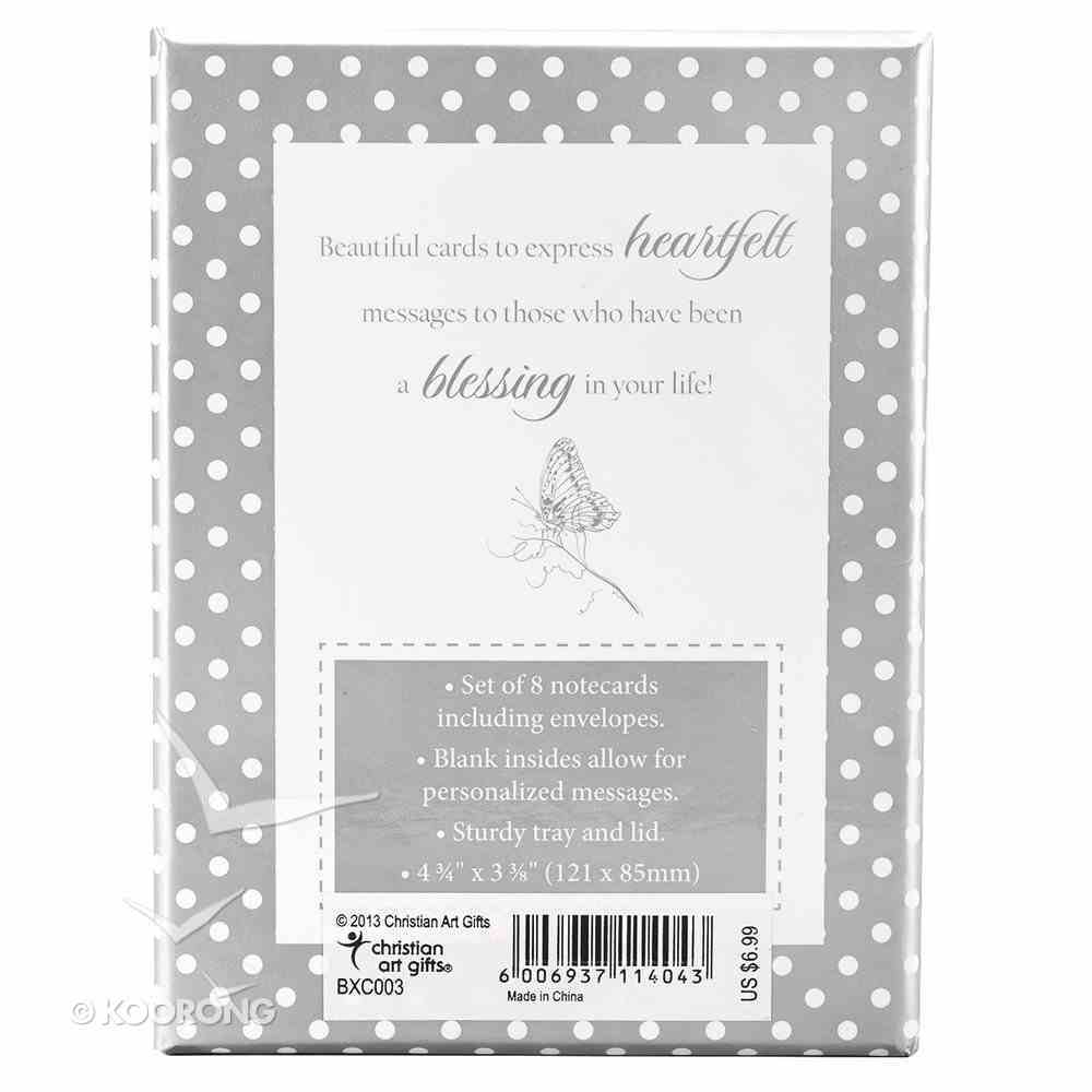 Boxed Cards: Rejoice White/Gray (8 Cards/envelopes) Box