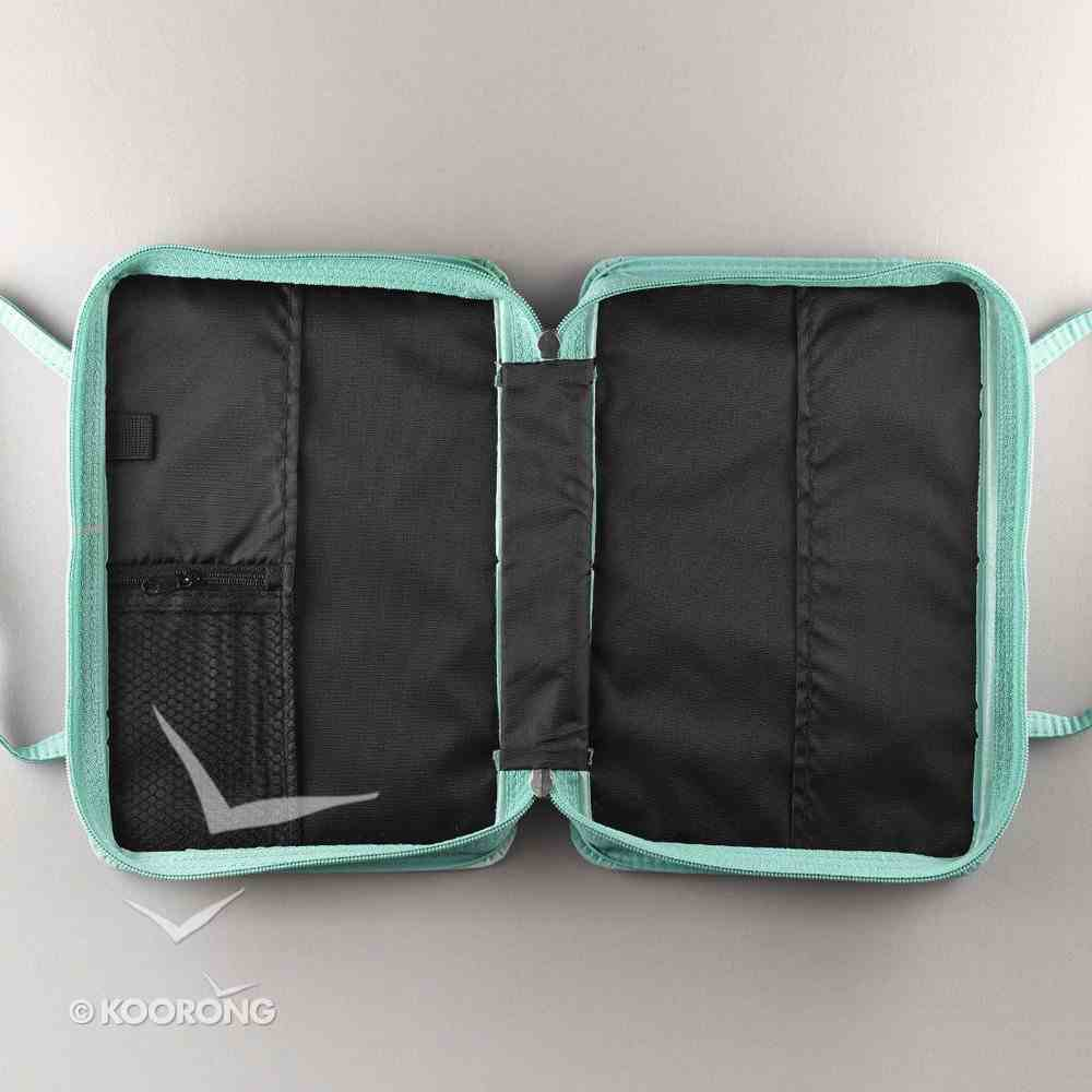 Bible Cover Purse-Style Large: Aqua Butterfly - Hebrews 11:1 Bible Cover