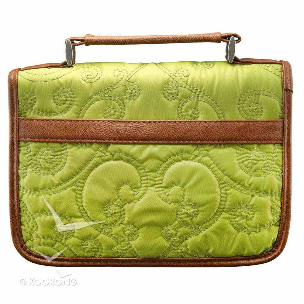 Bible Cover Classic Quilted: Green Medium Bible Cover