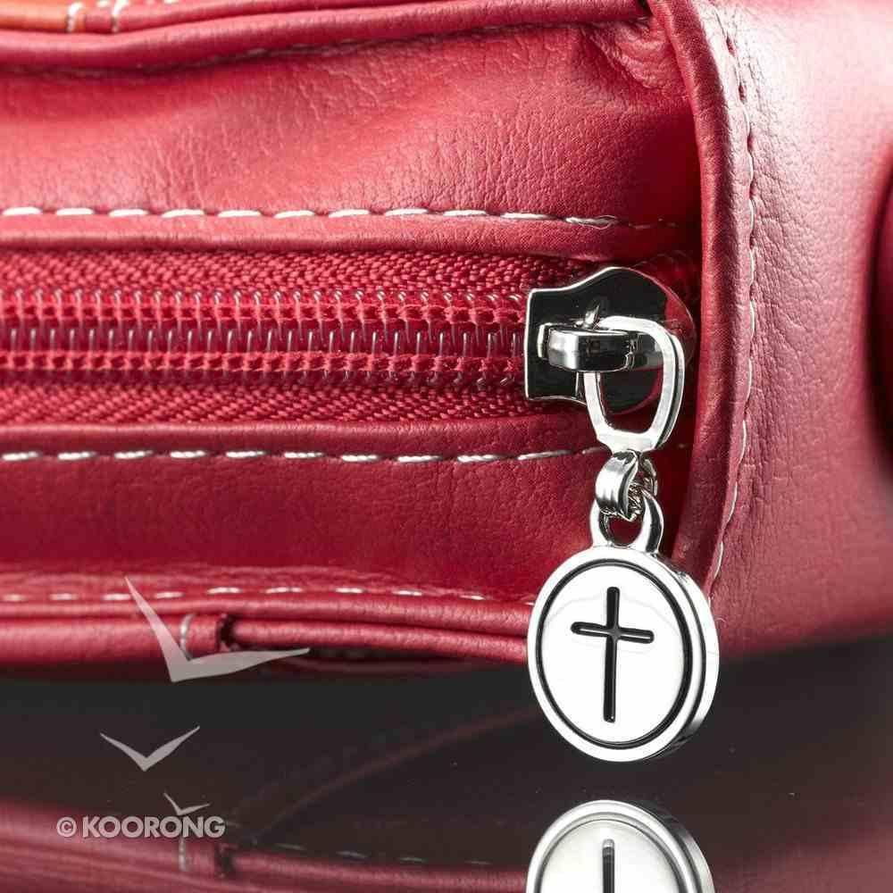 Bible Cover Pink/Orange Medium Phil 4: 13 Luxleather Imitation Leather
