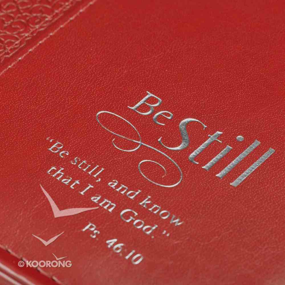 Bible Cover Red Be Still... Large Psalm 46: 10 Luxleather Imitation Leather