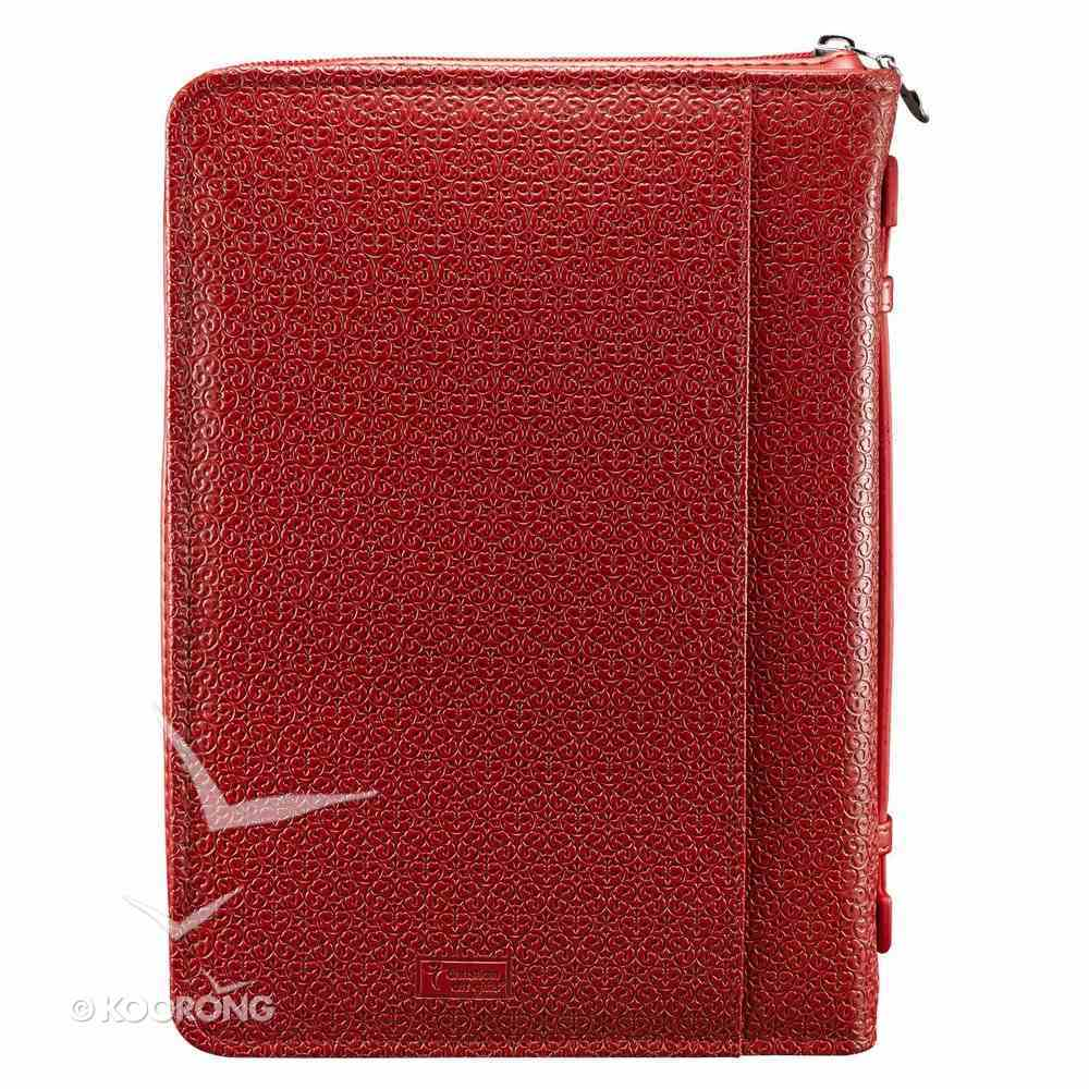 Bible Cover Red Be Still... Medium Psalm 46: 10 Luxleather Imitation Leather