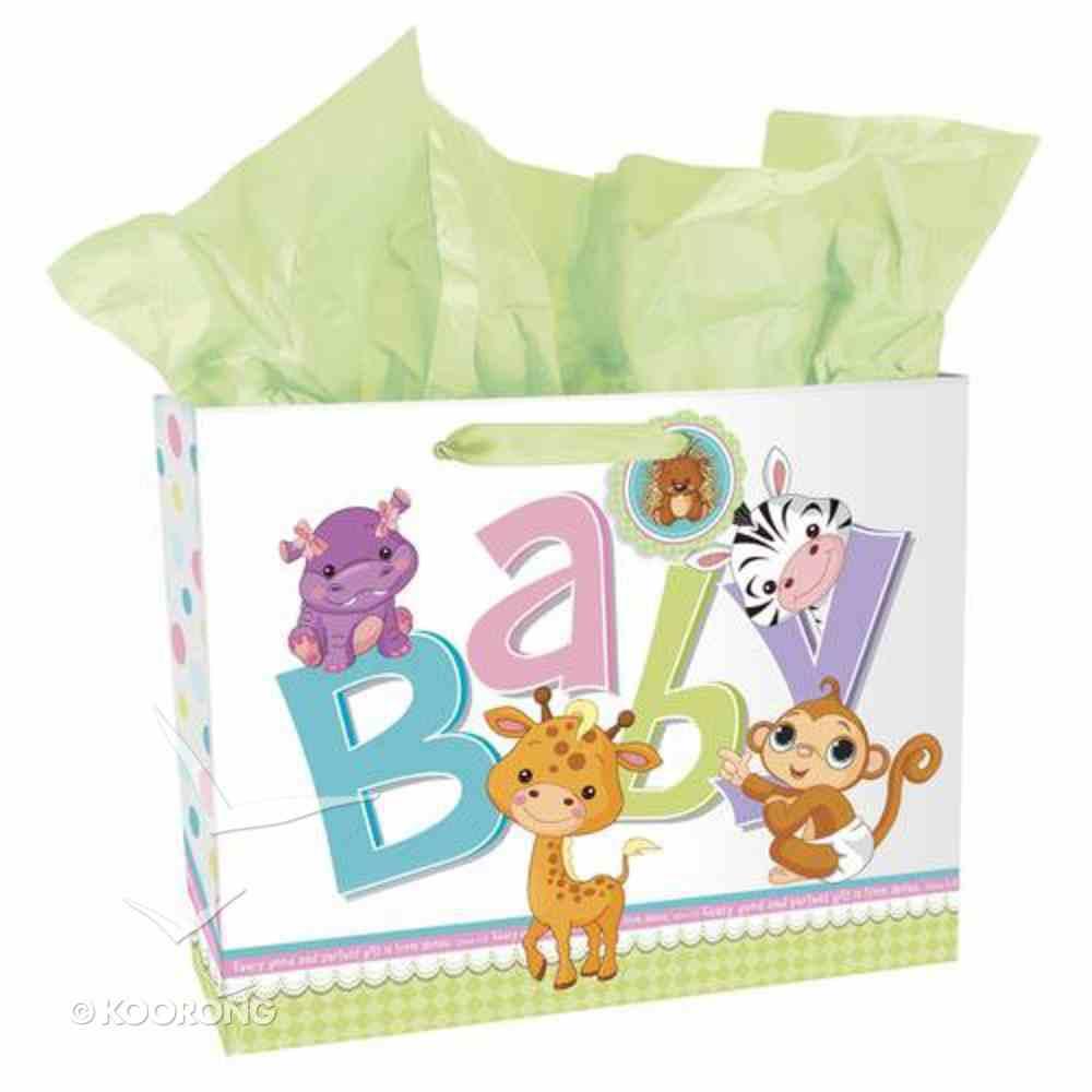 Gift Bag Large: Animal Baby Landscape (Incl Tissue) Stationery