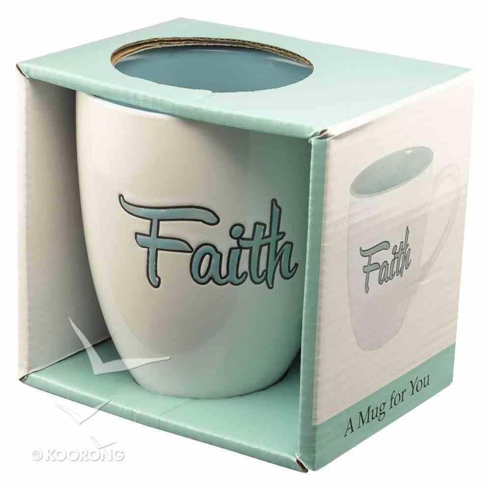 Inspirational Mug: Faith (460ml) (Blue/white) Homeware