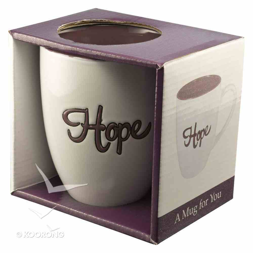 Inspirational Mug: Hope (460ml) (Purple/white) Homeware