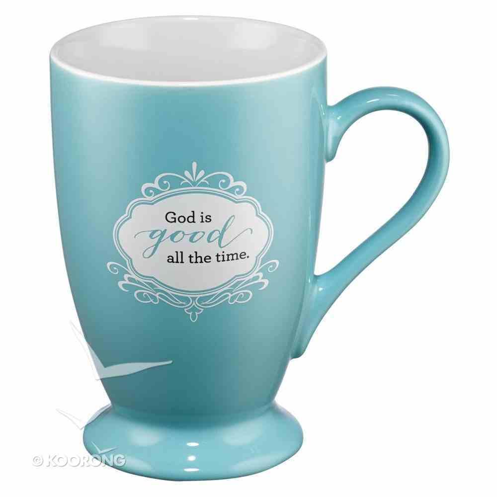 Ceramic Mug: God is Good, Blue (Psalm 100:5) Homeware