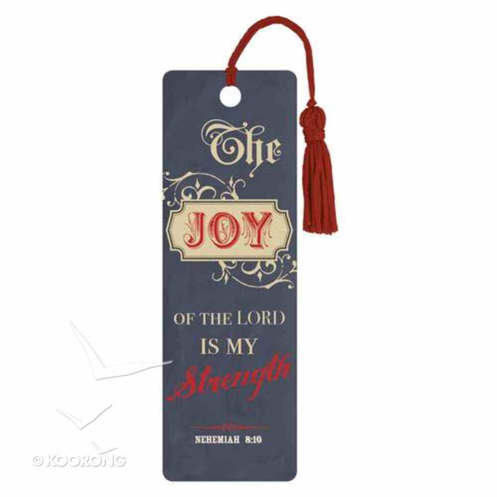 Bookmark With Tassel: Joy of the Lord Nehemiah 8:10 Stationery