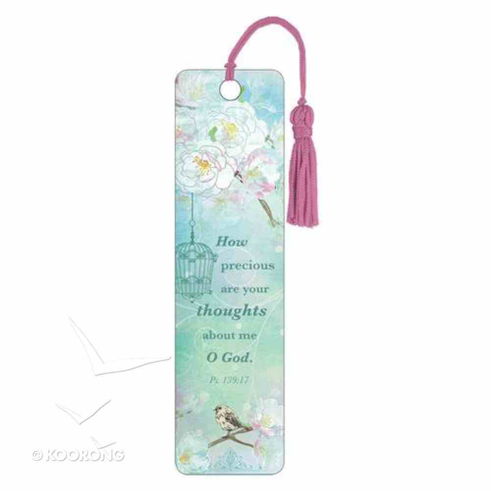 Bookmark With Tassel: How Precious Are Your Thoughts About Me O God Stationery