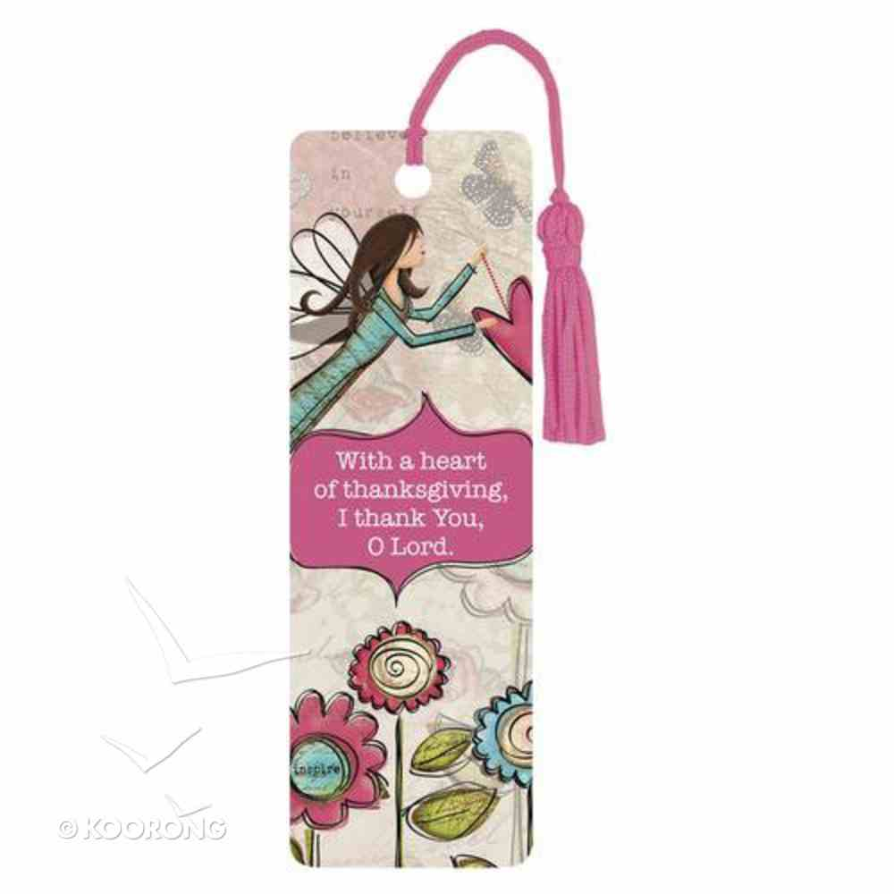 Bookmark With Tassel: A Heart of Thanksgiving Stationery