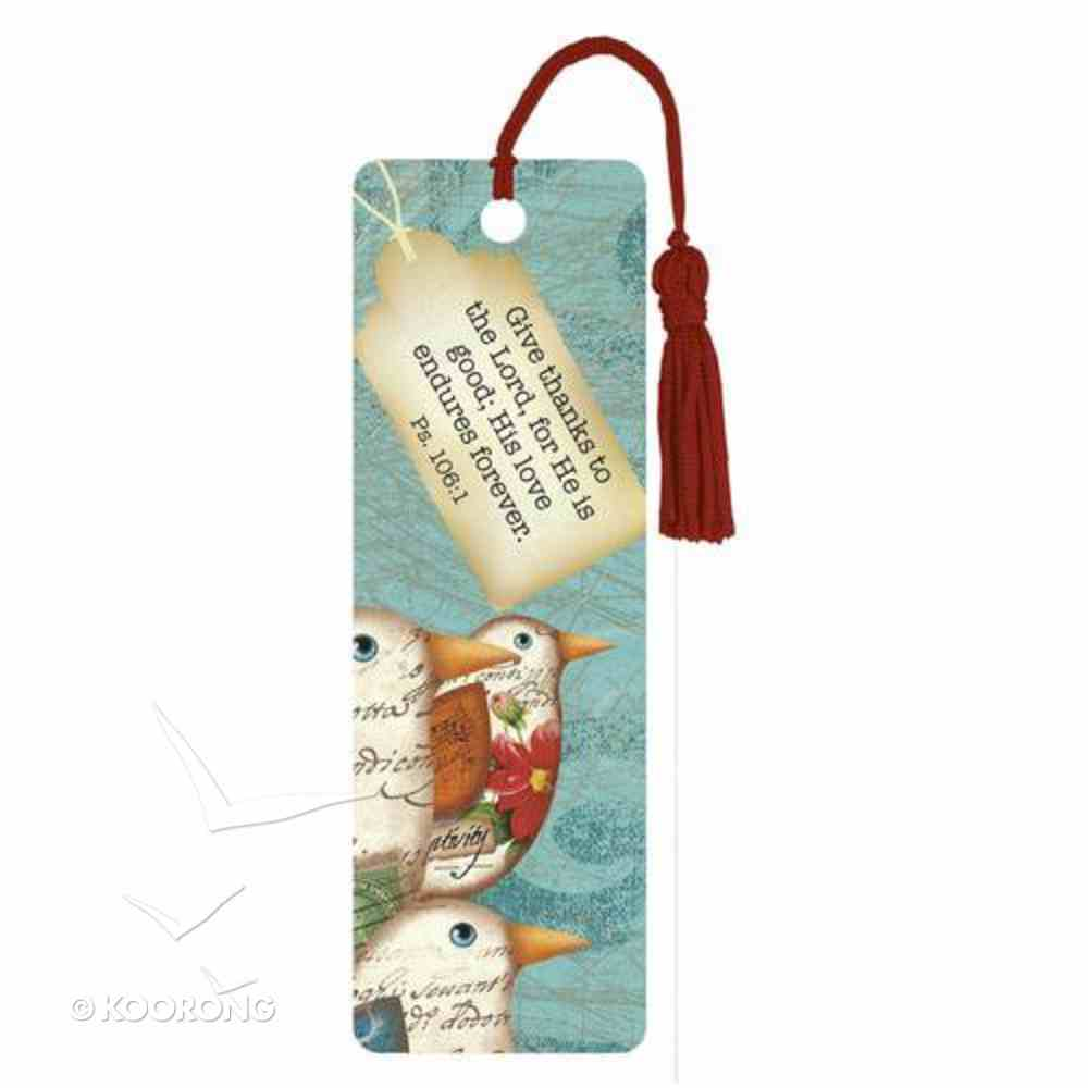 Bookmark With Tassel: His Love Endures Forever Stationery