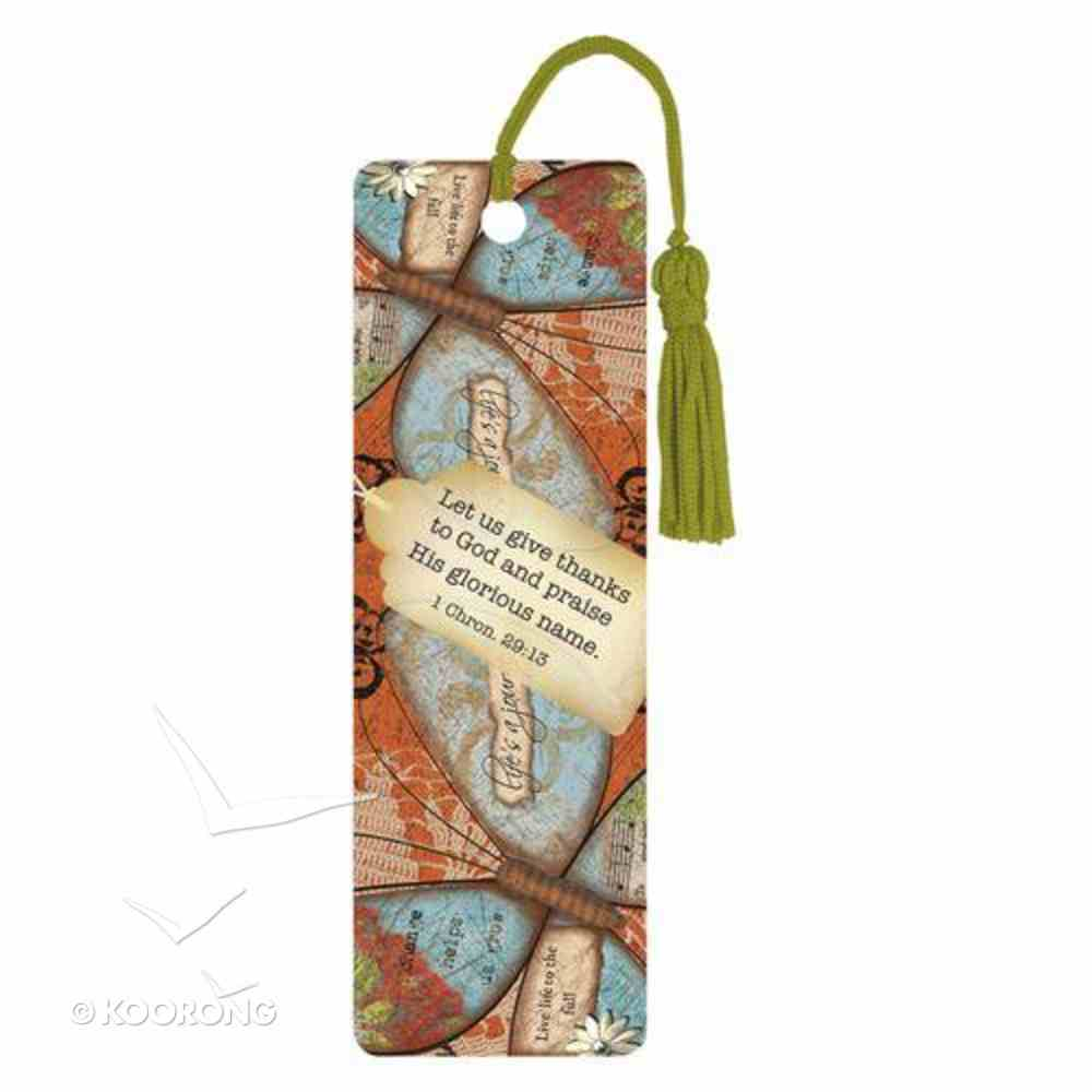 Bookmark With Tassel: Let Us Give Thanks Stationery