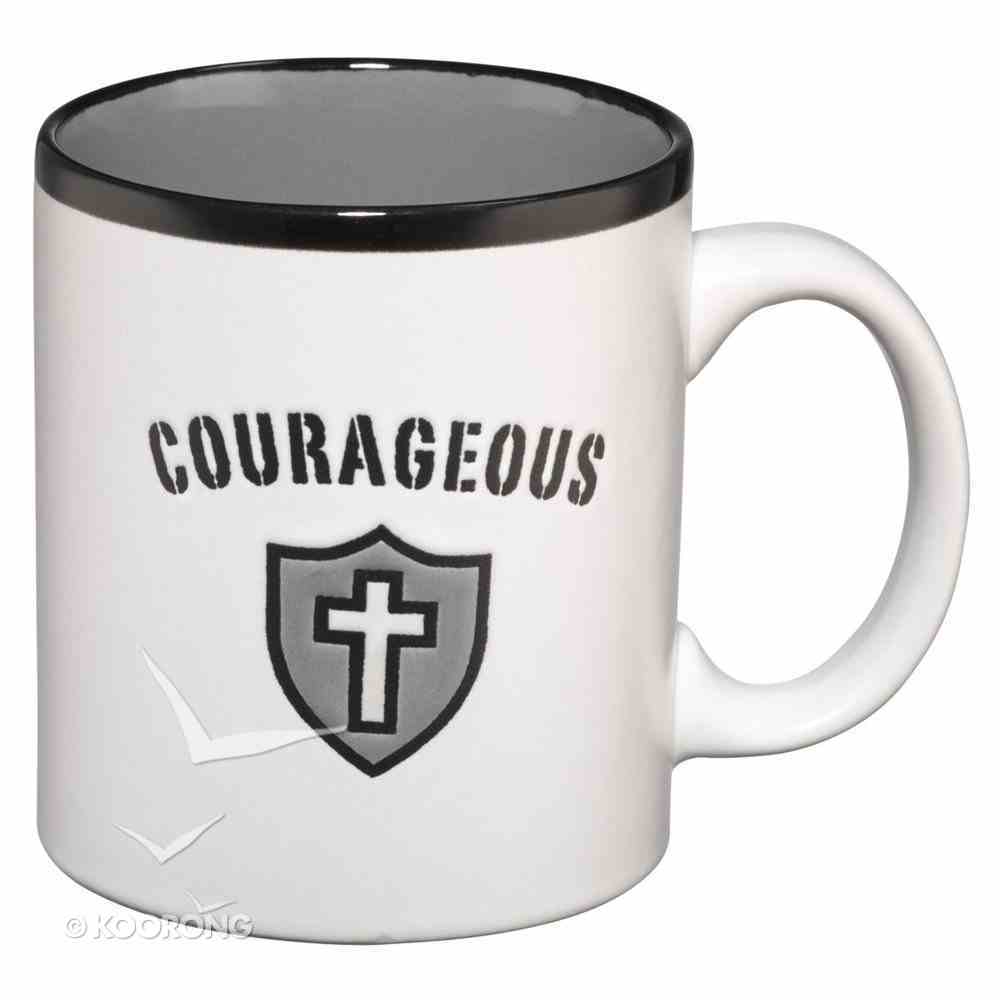Inspirational Mug: Courageous White (Psalm 31:24) Homeware