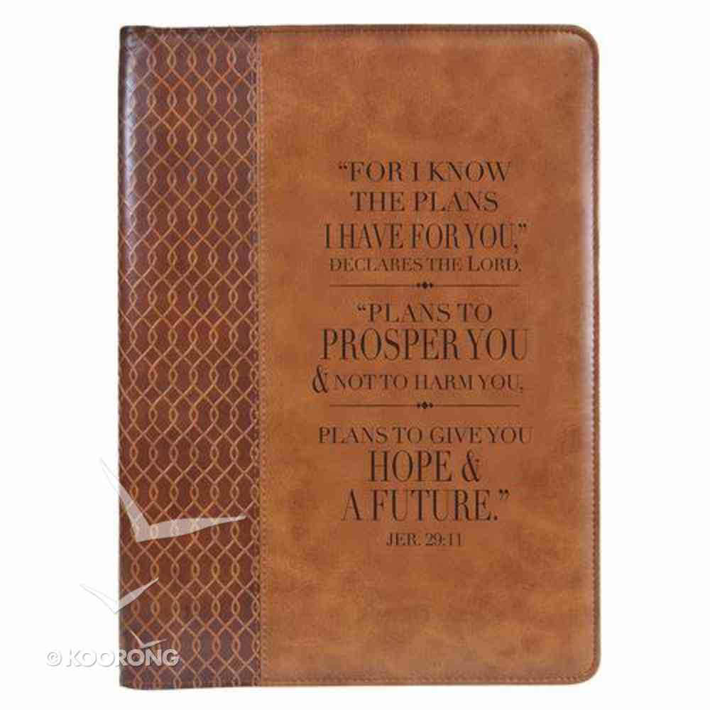 Folder: For I Know the Plans I Have For You..Jer 29:11 Brown Luxleather Imitation Leather