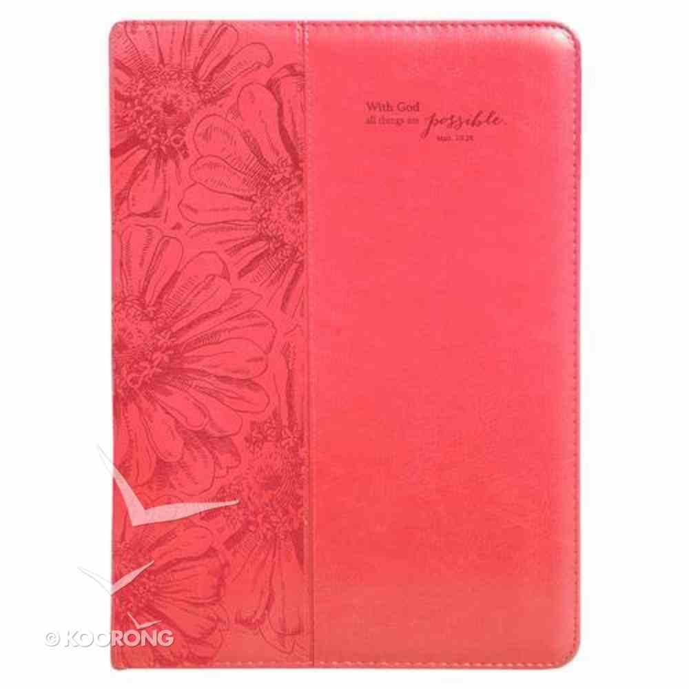 Folder: With God All Things Are Possible Pink Luxleather Imitation Leather