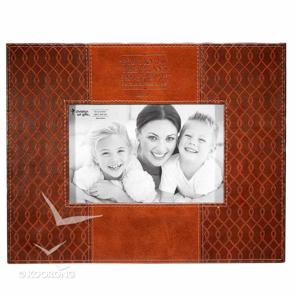 Photo Frame: I Know the Plans Brown Luxleather (Jer 29:11) Homeware