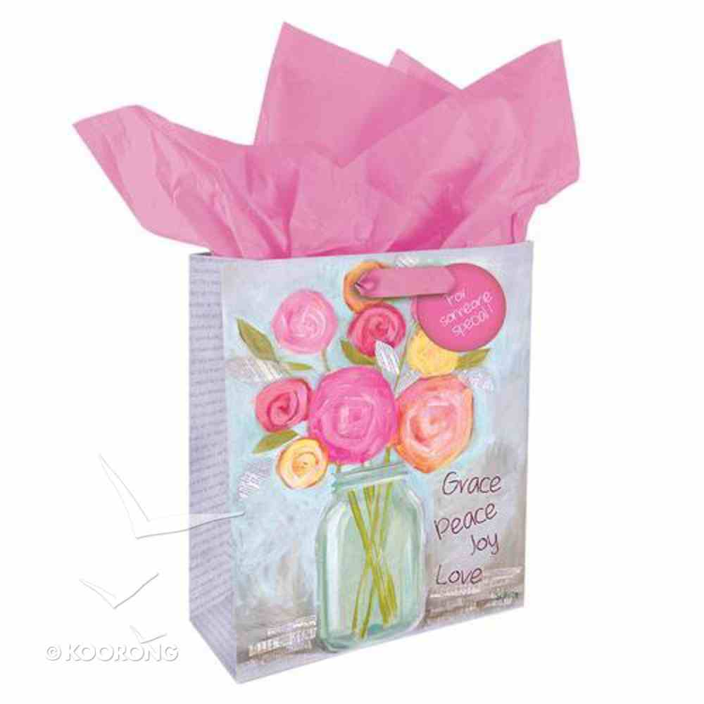 Petals of Praise Gift Bag Small: Grace Peace Joy Love Stationery