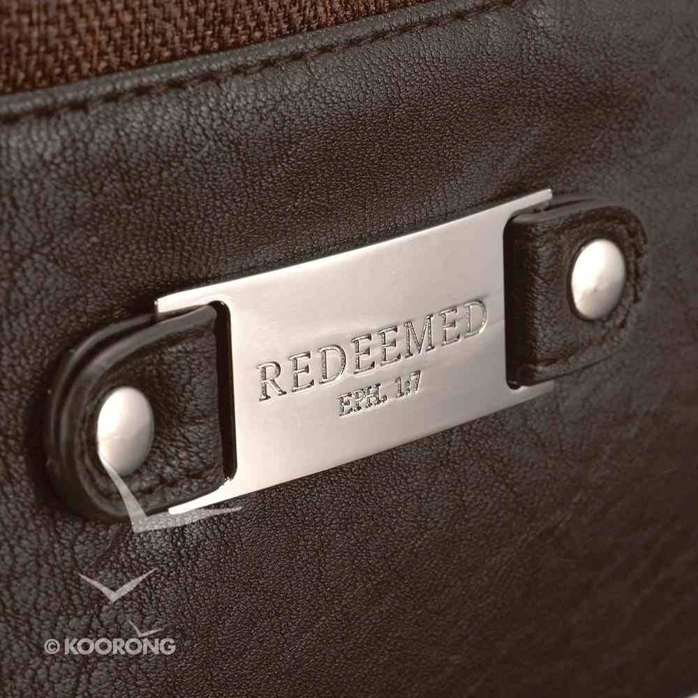 Brown Lined Look Tote Bag With Magnetic Clasp: Redeemed (Brown) Soft Goods