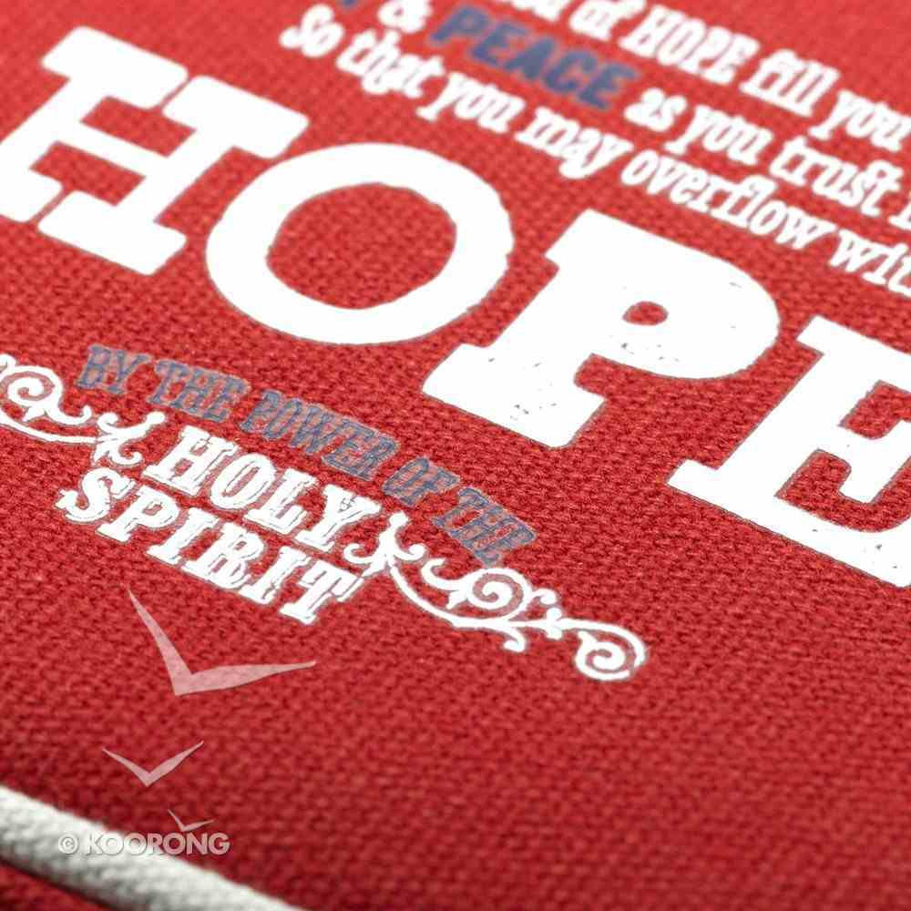 Bible Cover Canvas Red Hope Large Hebrews 6: 19 Bible Cover