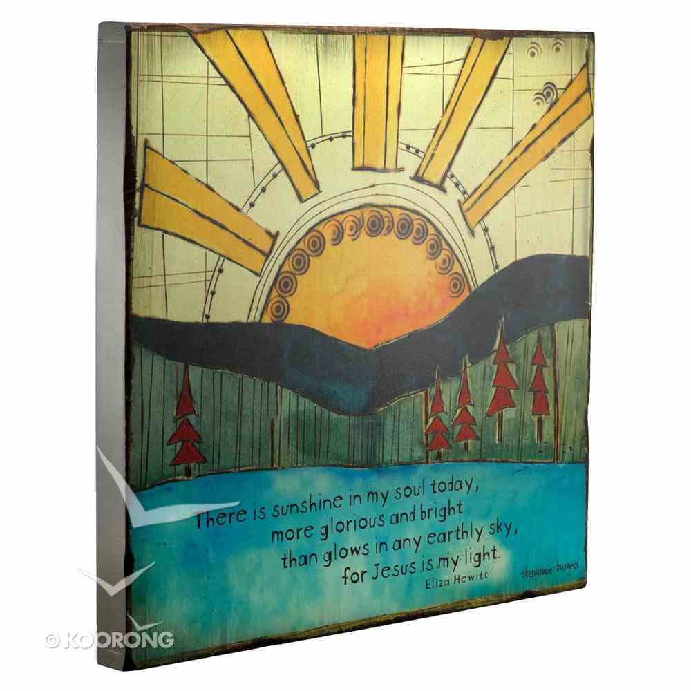 Large Wooden Hanging Block: Golden Blossoms: Sunshine in My Soul Plaque