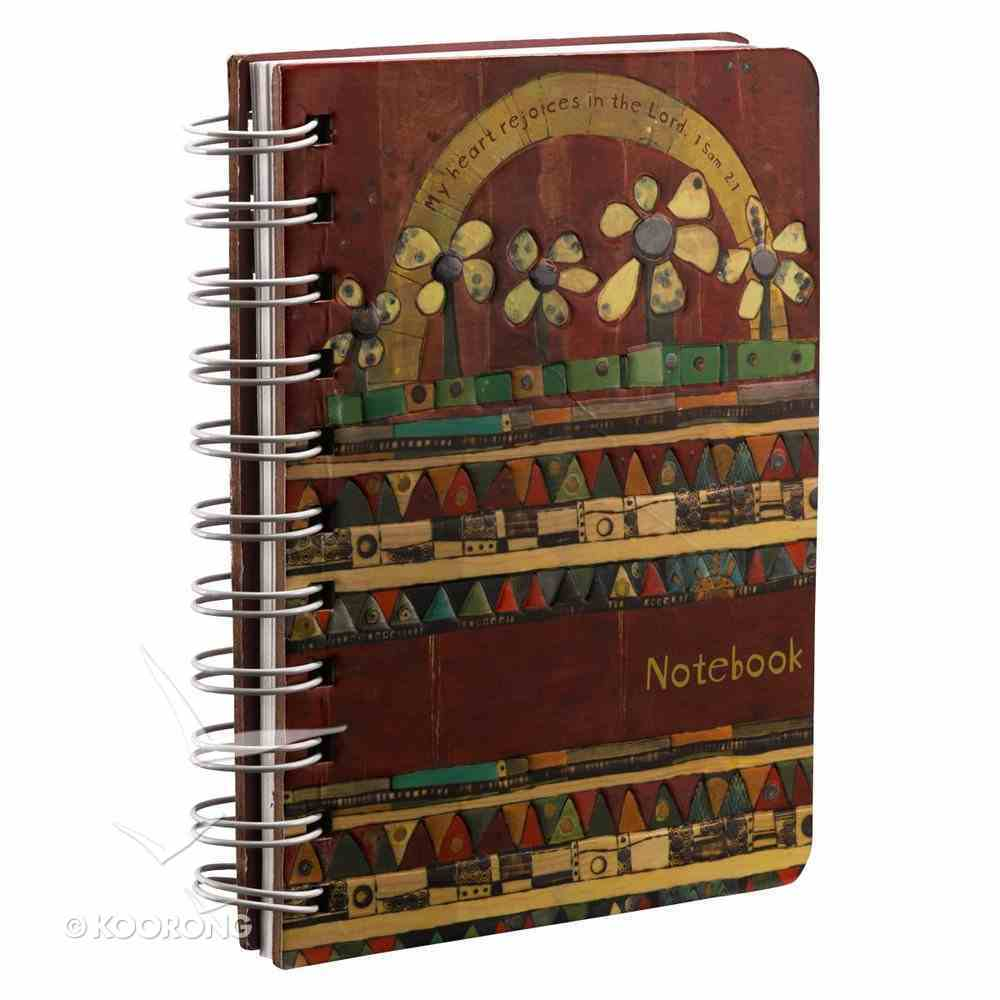 Spiral Notebook: Golden Blossoms: My Heart Rejoices in the Lord Spiral