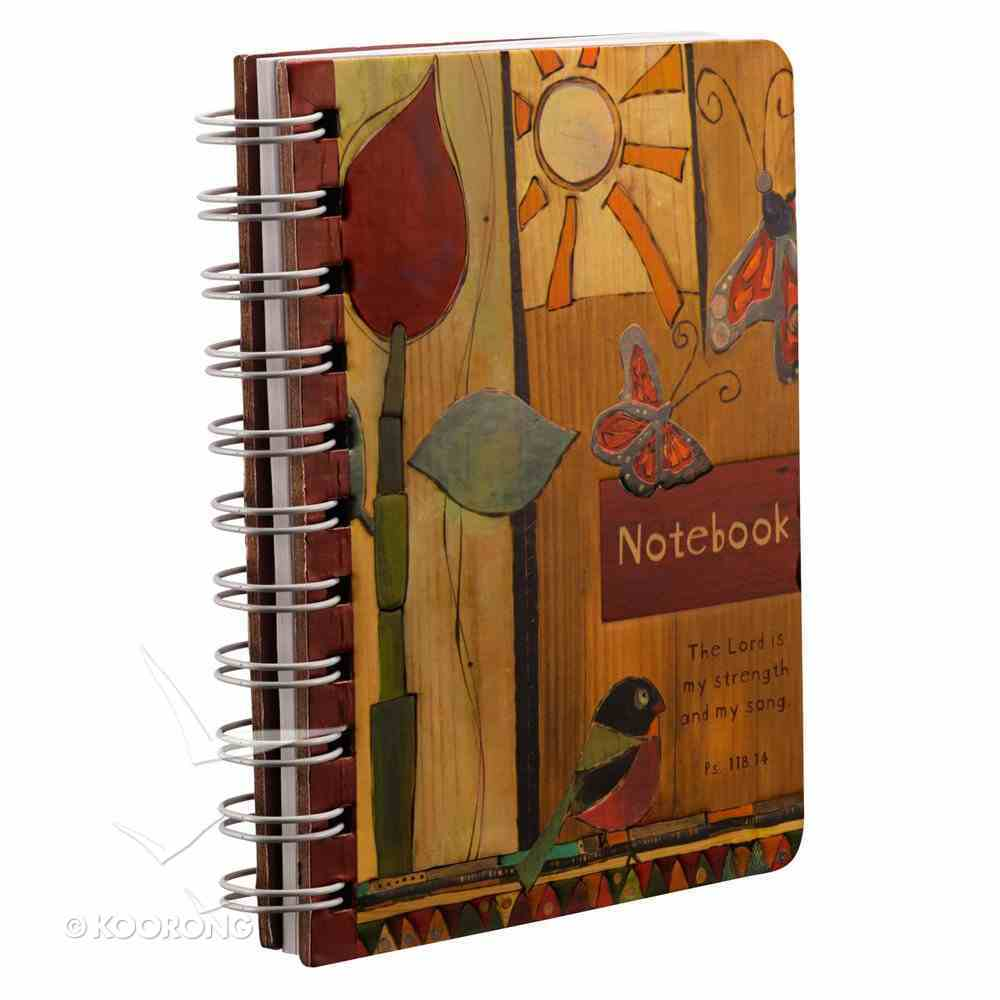 Spiral Notebook: Golden Blossoms: The Lord is My Strength and My Song Spiral