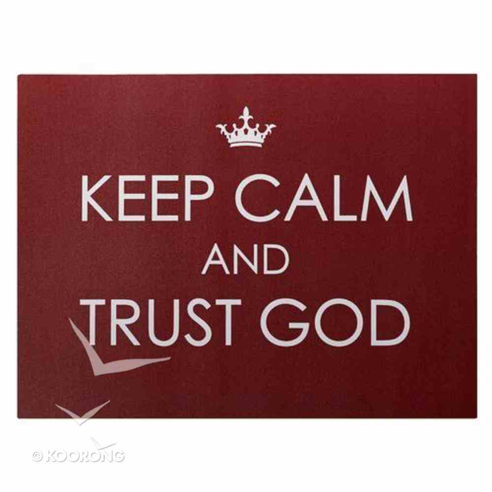 Bumper Magnet: Keep Calm and Trust God (Red/white) Novelty