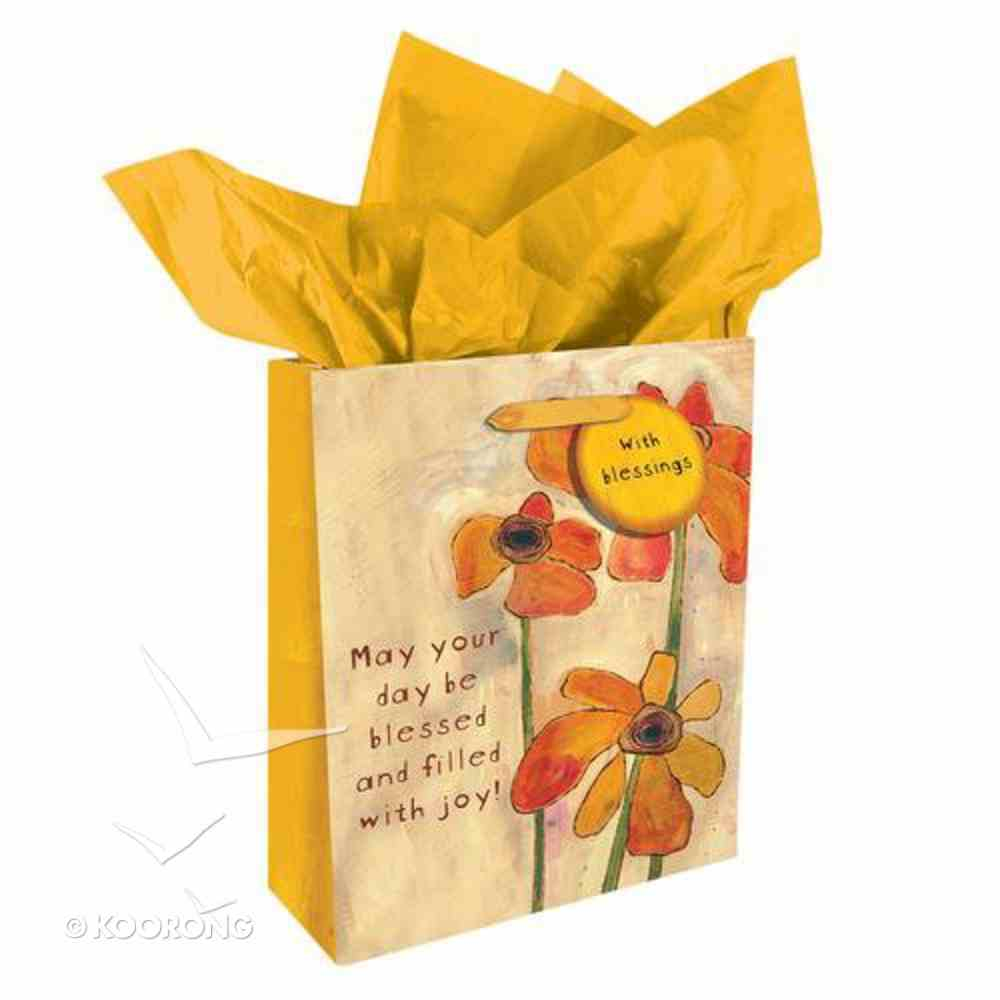 Gift Bag Medium: Golden Blossoms: May Your Day Be Blessed... Stationery