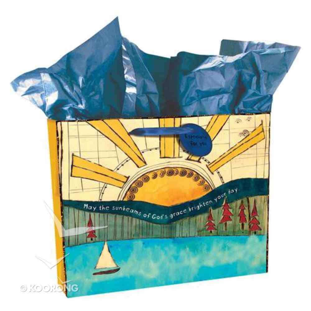 Gift Bag Large Golden Blossoms: Sunrise Stationery