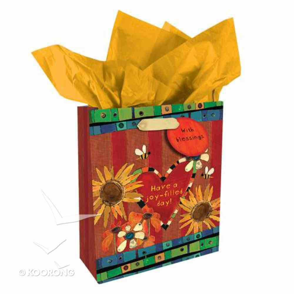 Gift Bag Small: Golden Blossoms: Have a Joy Filled Day Stationery