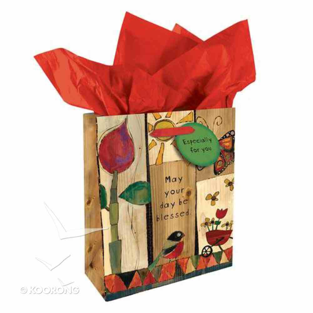 Gift Bag Small: Golden Blossoms: May Your Day Be Blessed Stationery