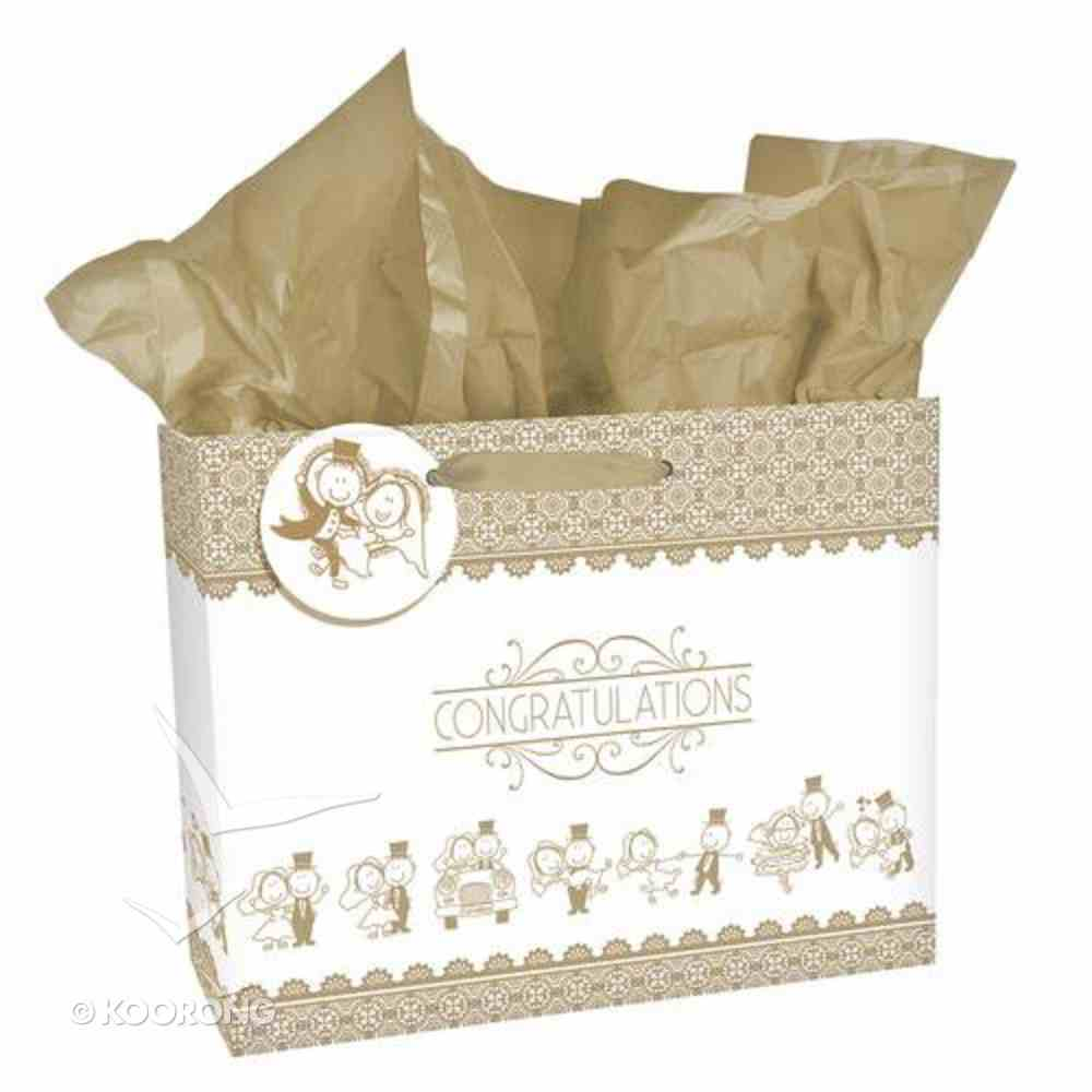 Gift Bag Large: Wedding Congratulations Stationery