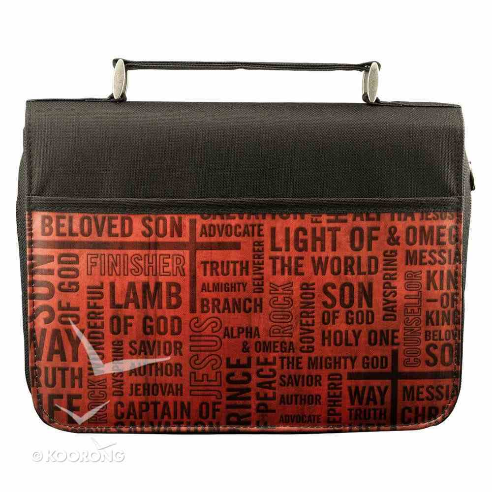 Bible Cover Classic Micro-Fiber: Names of Jesus Medium Bible Cover